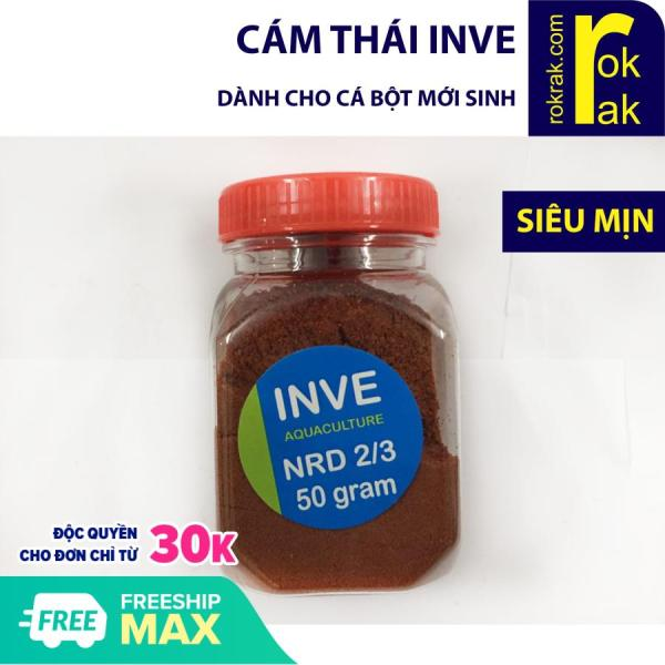 Cám Thái INVE NRD 2/3 hũ 50 gram cho cá bột mới sinh