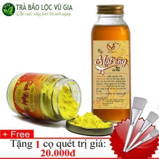 Combo Tinh Nghê Đo 100gr + Mâ t Ong Hoa Cà Phê 420gr - Nguyên Châ t VG Farm + Tă ng Co Quét [ Đã được kiểm nghiệm y tế ] thumbnail