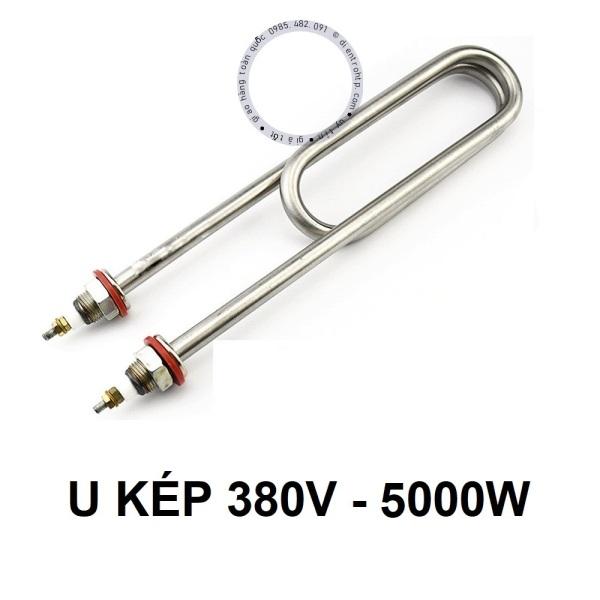 Còng điện U kép, thanh nhiệt đun nước,điện trở 380V - 5kW