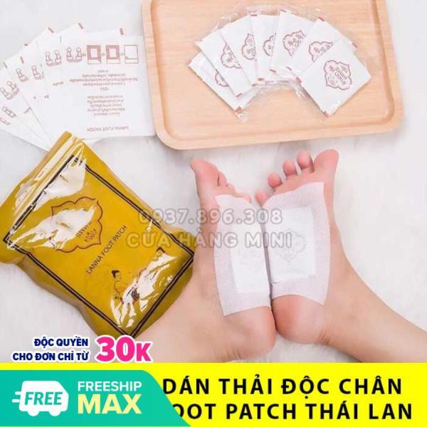 【SIÊU RẺ】 10 Miếng Dán Thải Độc Chân Lanna Foot Patch Thái Lan