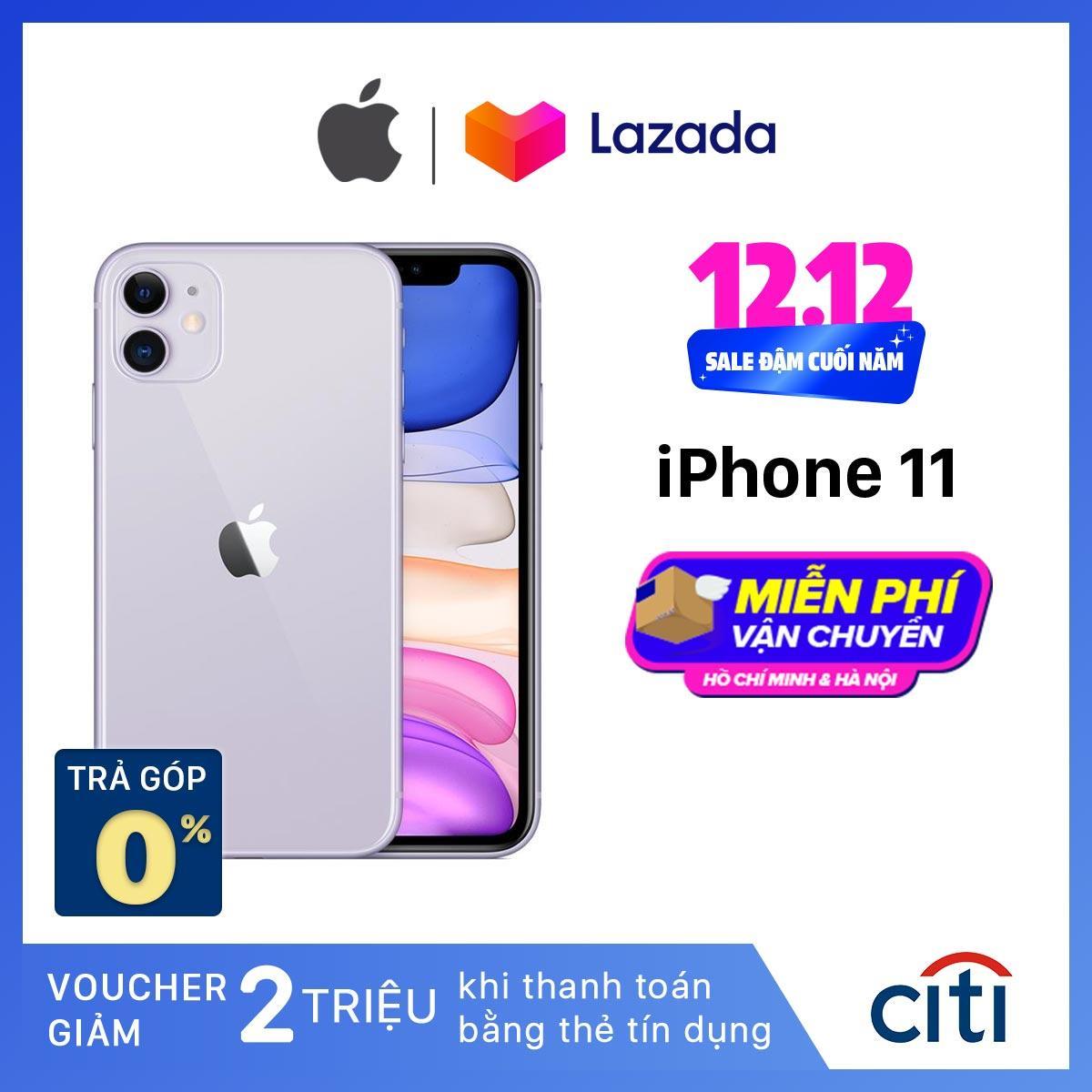 Điện Thoại Apple IPhone 11 - Hàng Chính Hãng VN/A - Màn Hình Liquid Retina HD 6.1inch Face ID Chống Nước Chip A13 2 Camera Giá Cực Cool