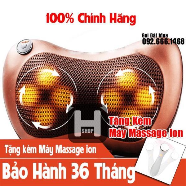 Gối Matxa Hồng Ngoại 8 Bi - Gối Massage 8 Bi - Gối Masage Hồng Ngoại Tự Đảo Chiều - Gối Mát Xa Hồng Ngoại Magic Pilow Kazuko - Gối Massage Vai Cổ Gáy