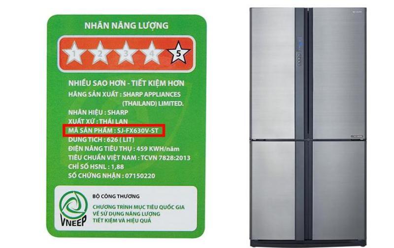 Tủ lạnh Sharp inverter 626 lít SJ-FX630V-ST 626 lít