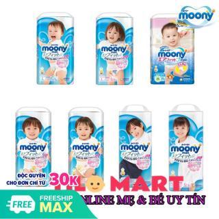 Bỉm quần Moony bé gái đủ size M58 L44 XL38 XXL26 thumbnail