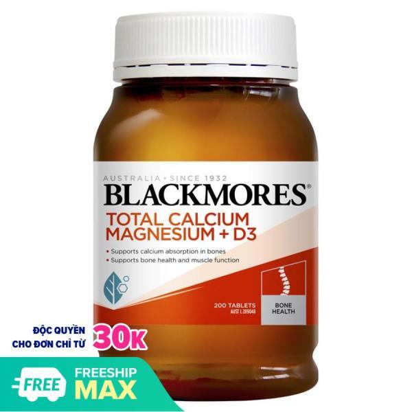 Hỗ trợ xương khớp Viên uống Blackmores Total Calcium & Magnesium + D3 Úc 200v - Chemistware