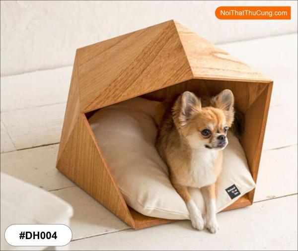 Nhà Gỗ Đa Giác Cực Xịn Cho Chó Mèo DH004
