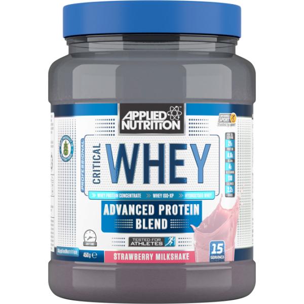 Combo Sữa tăng cơ - Crittical Whey - Applied Nutrtion - Critical Whey 450G - 15 Lần Dùng & Bình lắc 400 ml cao cấp
