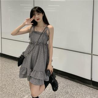 Váy lửng kẻ sọc ngọt ngào và phá cách, áo nịt chống nắng dài tay, váy ngắn thắt eo thumbnail