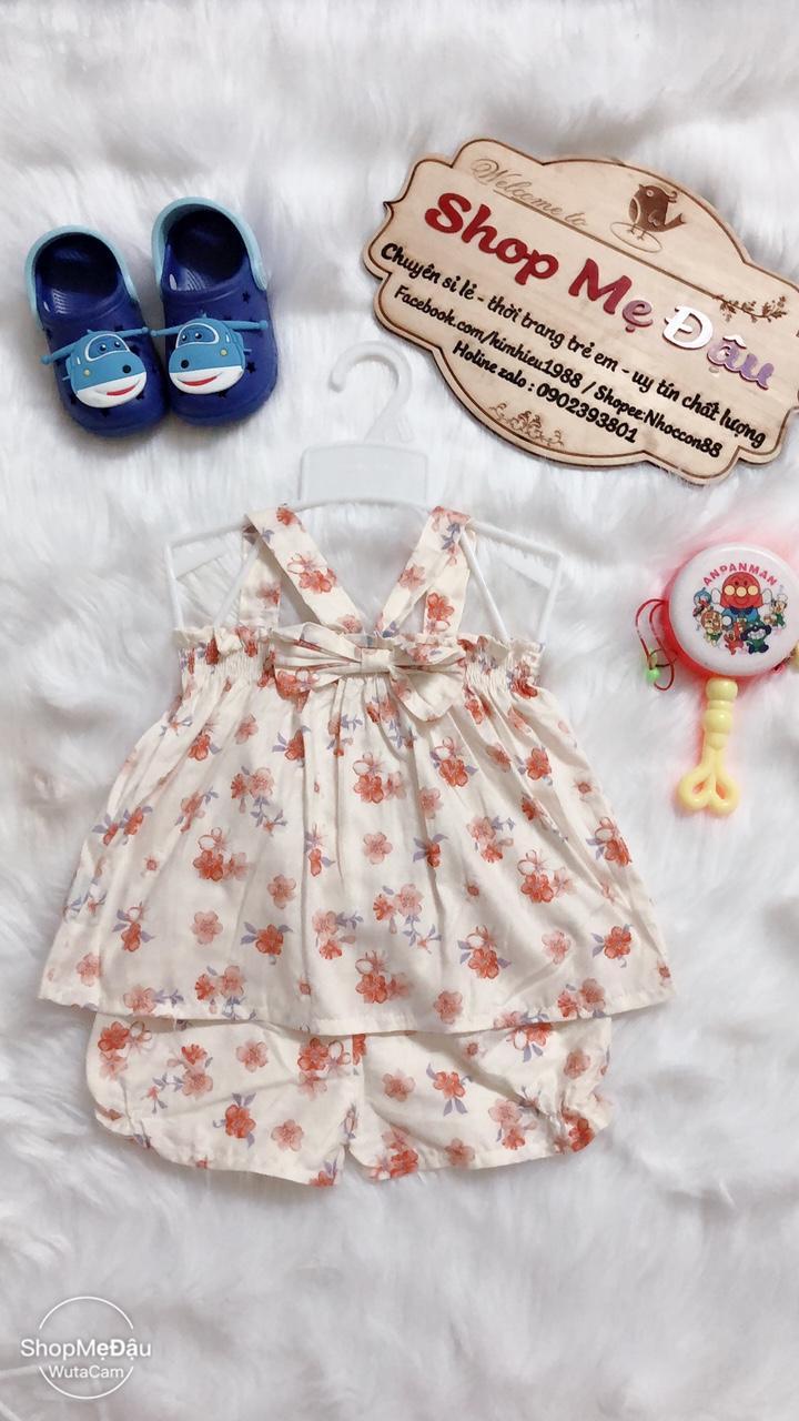 Bộ dây chéo hoa văn cho bé gái Shop Mẹ Đậu