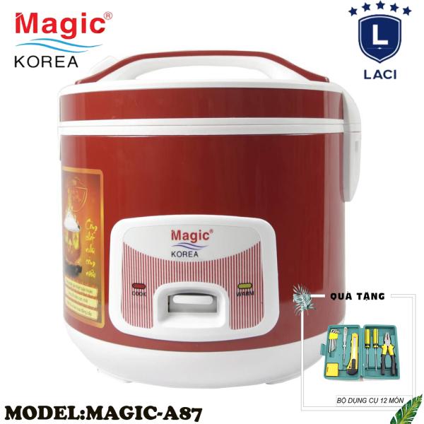 Nồi cơm điện lòng niêu Magic Korea A87 | Dung Tích 2L | Công Suất 650W | Bảo Hành Chính Hãng 12 Tháng | Tặng Bộ Dụng Cụ 12 Món