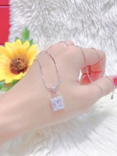 Dây chuyền nữ mạ bạch kim kiểu dáng tinh xảo cao cấp giá rẻ U.daychuyen266 thumbnail