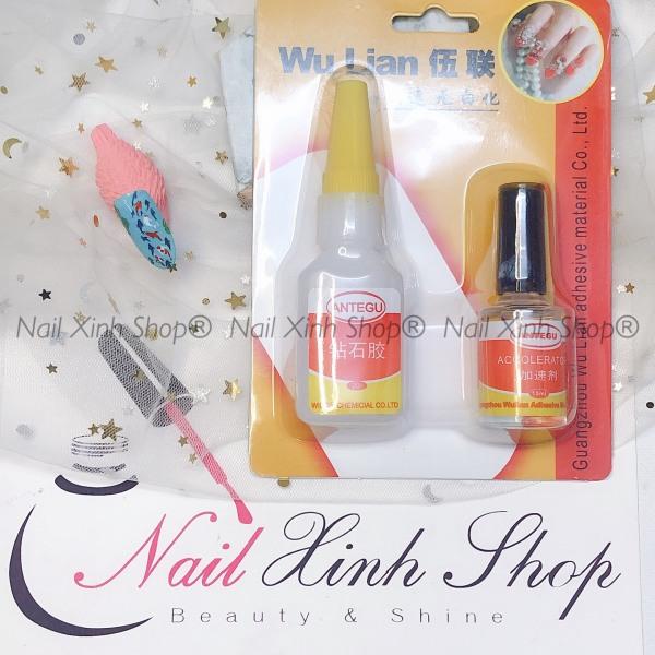 Keo dán móng Wu Lian, keo dán móng, đính đá nail siêu chắc loại 1, dụng cụ nail chuyên dụng nail salon giá rẻ