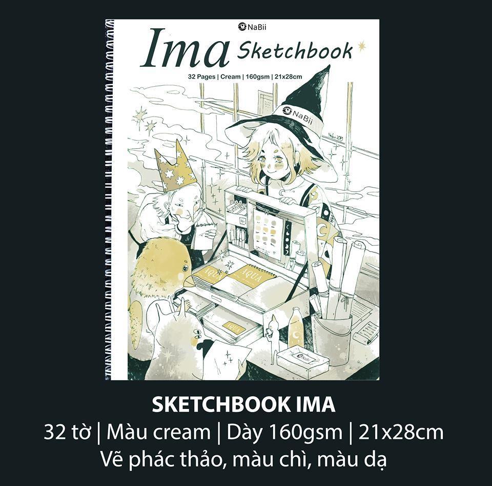 Mua Sổ IMA Sketchbook 160gsm kích thước 21x28cm (32 Tờ) A4