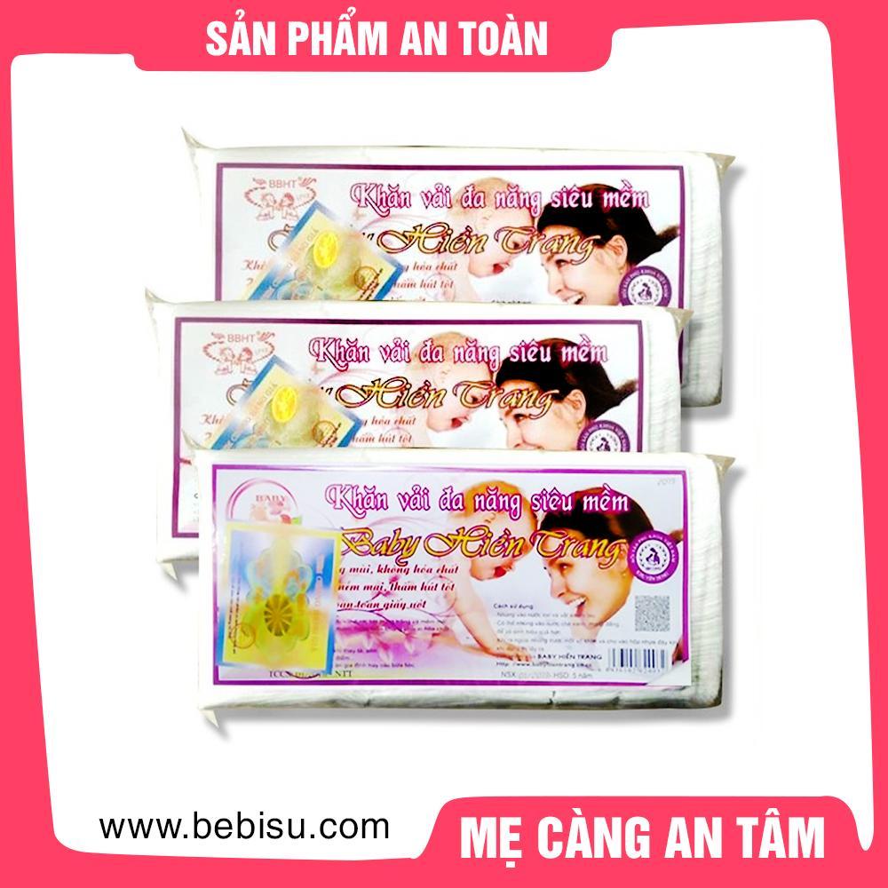 Combo 4 gói khăn vải khô đa năng Hiền Trang (250t/gói)