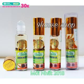 (Nội địa Thái) Lốc 12 Chai Dầu Nhân Sâm Green Herb Oil Thái Lan) 8ml chai thumbnail