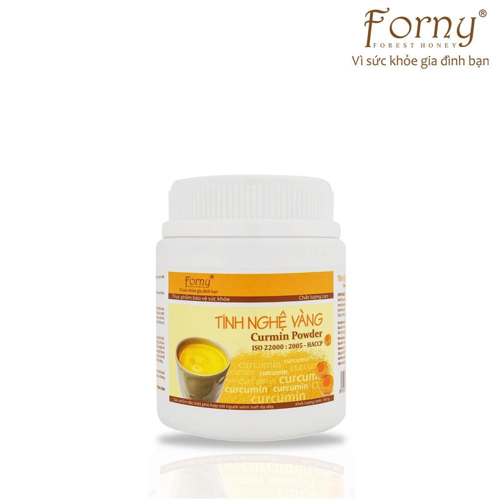 Tinh nghệ vàng Forny Hũ (Hộp) 100g (dành cho người đau dạ dày, làm đẹp, bồi bổ sức khỏe, phụ nữ sau sinh) (Tinh bột nghệ) (Tinh bột nghệ nguyên chất)