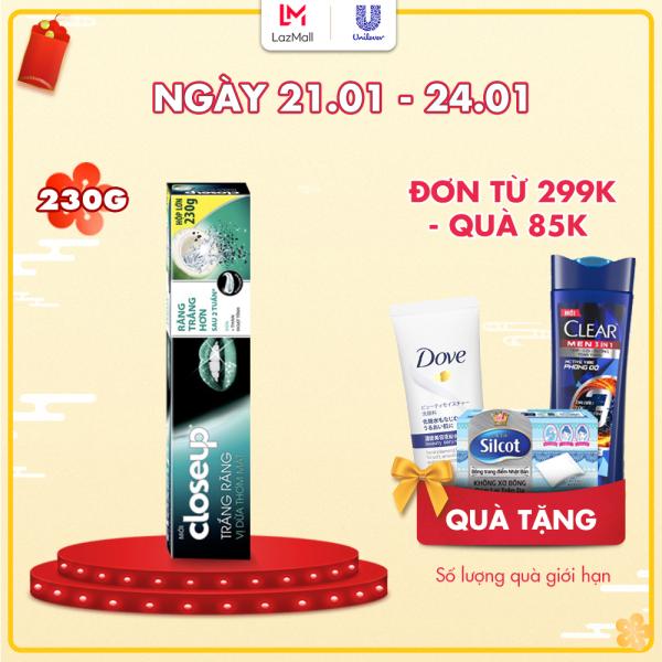 Kem đánh răng dạng GEL Closeup Trắng Răng Tự Nhiên Vị Dừa Thơm Mát 230g nhập khẩu