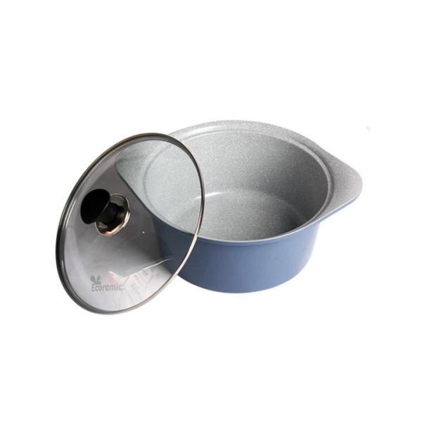 Ecoramic- Nồi đúc tráng men Ceramic 22-24cm công nghệ Hàn Quốc
