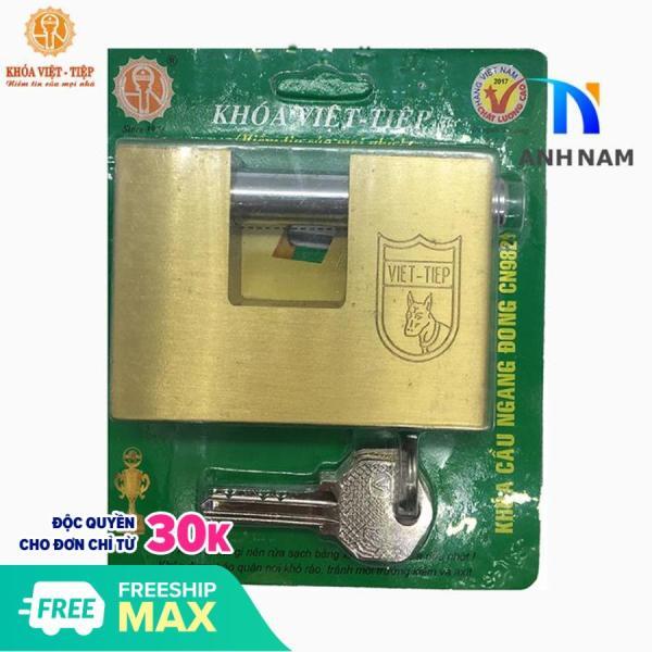 Ổ Khóa Việt Tiệp Cầu Ngang Hợp Kim Đồng Loại Lớn Kích Thước 57 x 82 mm Ống Phi 12mm