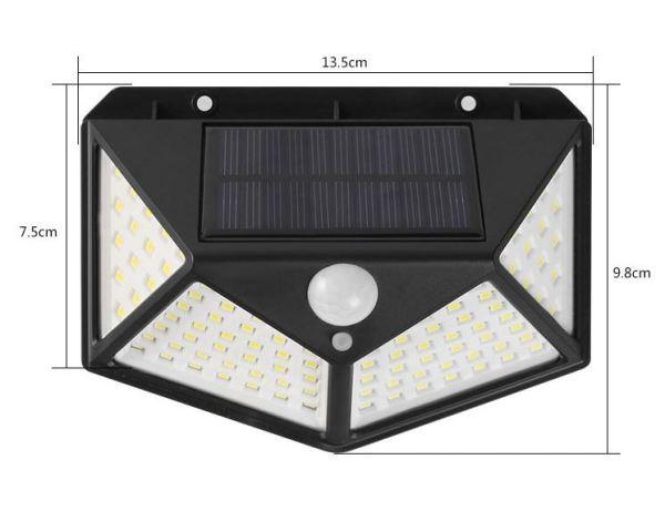 Bảng giá Đèn LED năng lượng mặt trời cảm biến hồng ngoại Solar 100 LED siêu sáng (Đen), đèn năng lượng mặt trời, đèn trang trí sân vườn