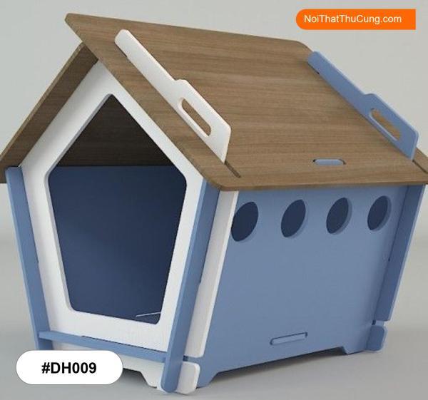 Nhà Gỗ Cho Chó Mèo Độc Đáo DH009