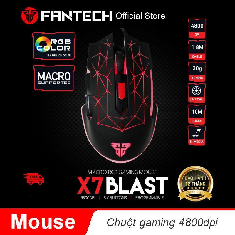 Chuột Gaming Fantech Blast X7 ( có phần mềm tùy chỉnh riêng ) - Hãng phân phối chính thức