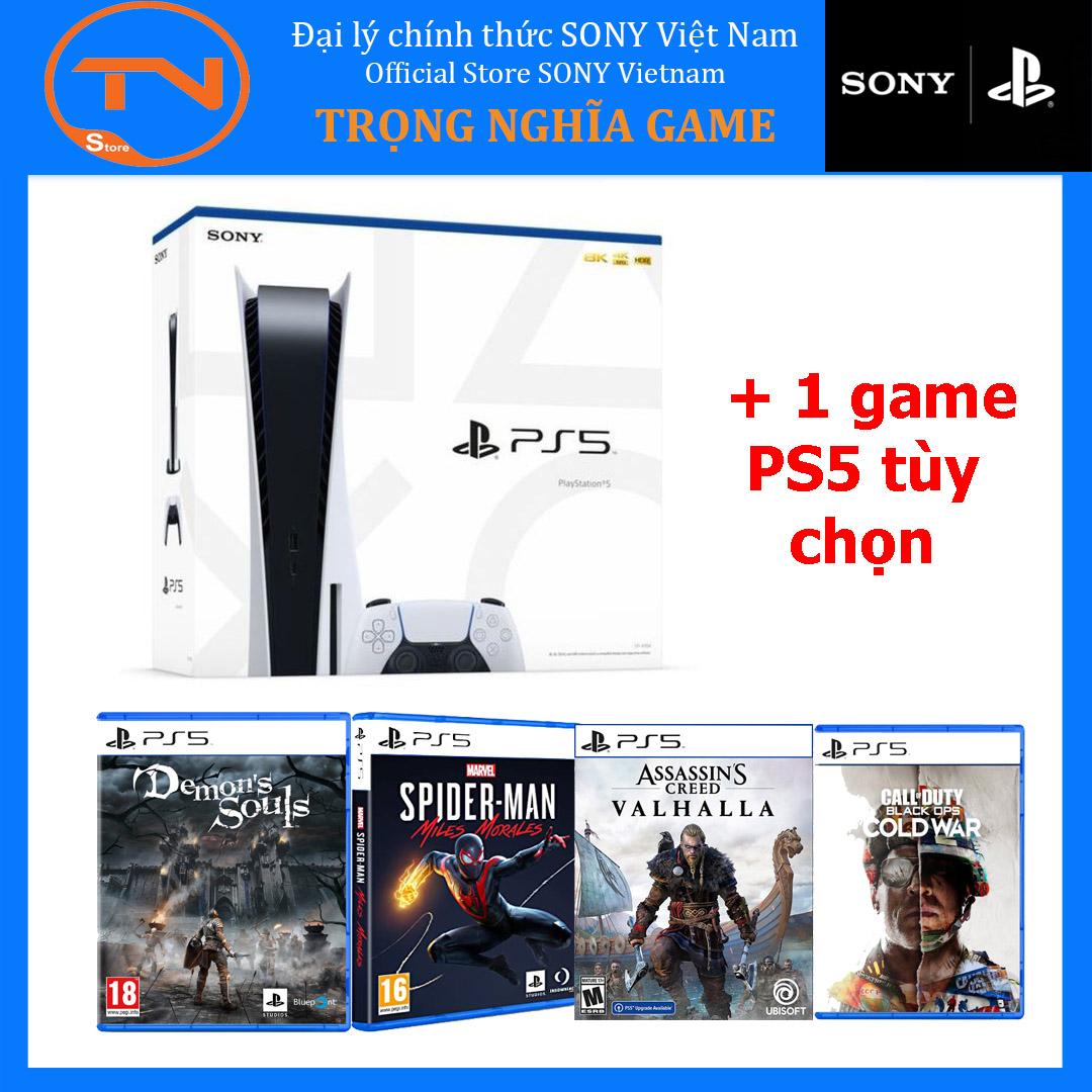 SONY PLAYSTATION 5 CHÍNH HÃNG - MÁY GAME PS5 + 1 game PS5 tùy chọn