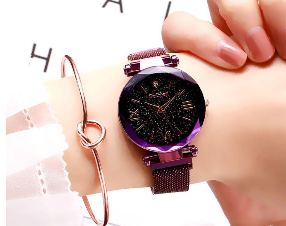 Đồng hồ nữ dây nam châm siêu hot mẫu mới 2019 Nhật Bản