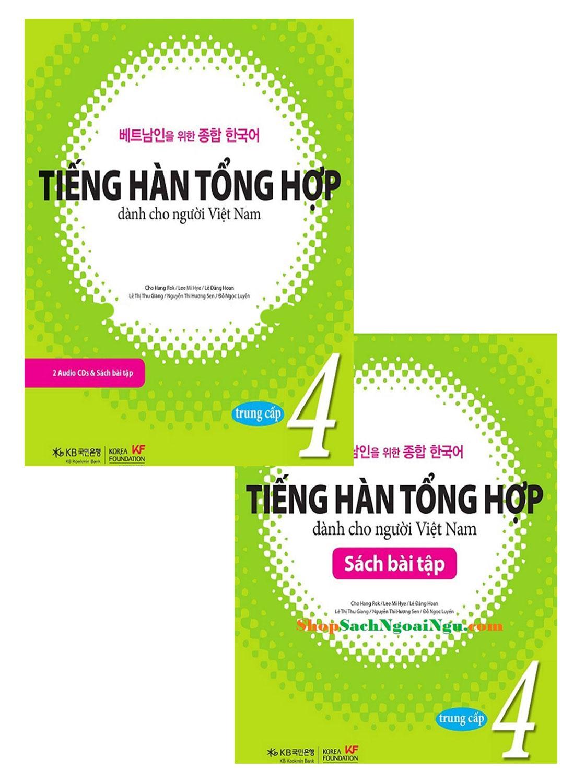 Trọn Bộ Giáo Trình Tiếng Hàn Tổng Hợp Dành Cho Người Việt Nam Trung Cấp Tập 4 + CD Tặng 1 Thẻ FC Trắng Đang Ưu Đãi Giá