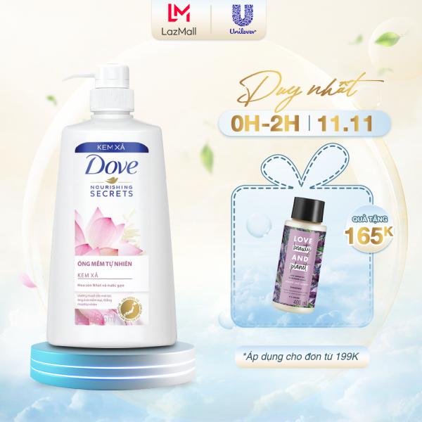 Kem xả Dove Óng mềm tự nhiên 620gr nhập khẩu