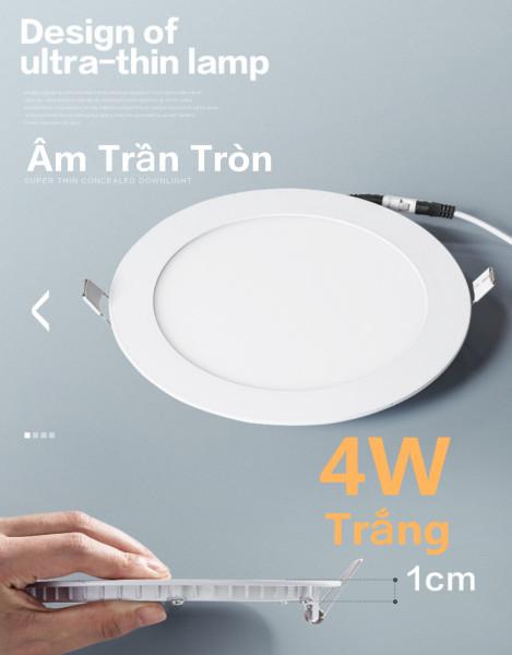 Đèn led âm trần tròn siêu mỏng 4w 6w 9w 12w 15w 18w 24w dùng âm trần thạch cao thiết kế tinh tế gọn đẹp mắt, dễ dàng lắp đặt thi công
