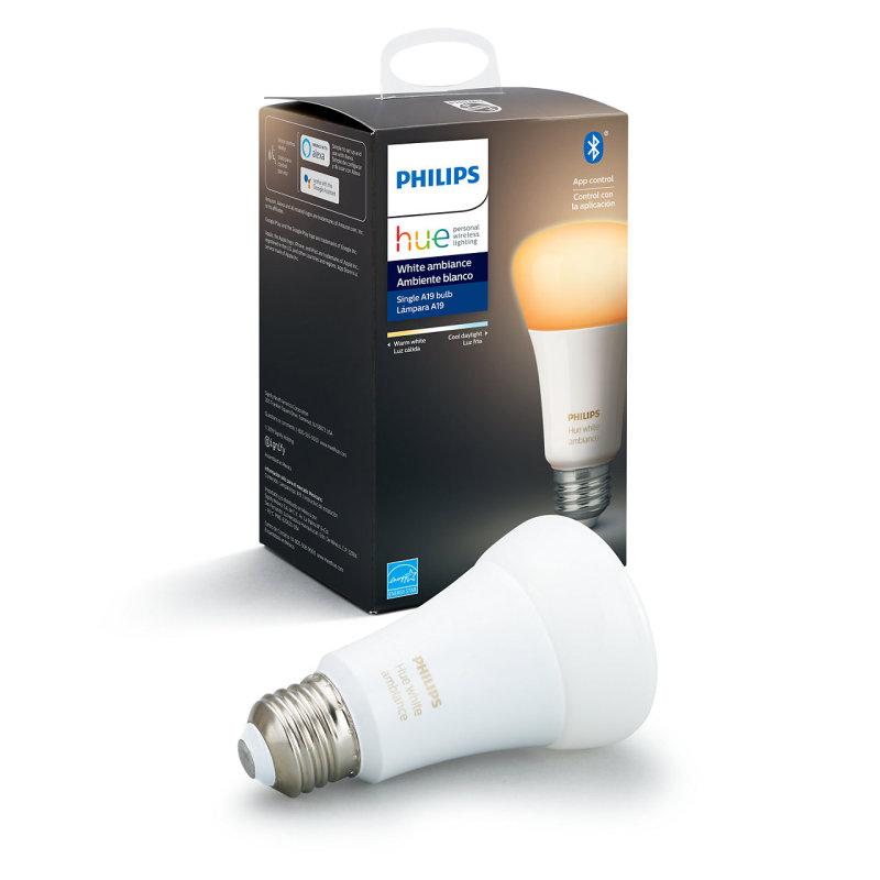 Bóng đèn thông minh Philips Hue White Ambiance E27 8.5W phiên bản có Bluetooth,  ánh sáng trắng sang vàng