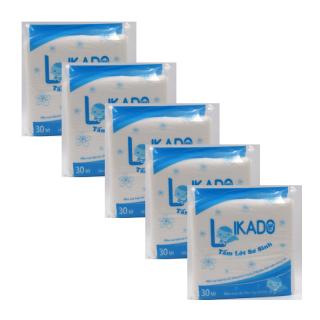 SET 5 gói tấm lót phân xu sơ sinh 3 lớp Likado (gói 30 tờ) thumbnail
