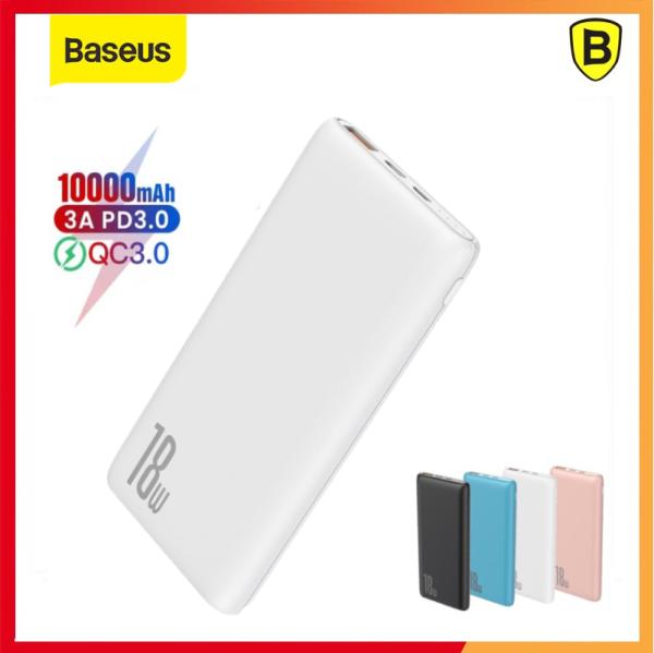 Giá Pin dự phòng sạc nhanh Baseus Bipow 10000mAh tích hợp PD/QC công suất 18W 3 cổng sạc QC3.0+PD3.0