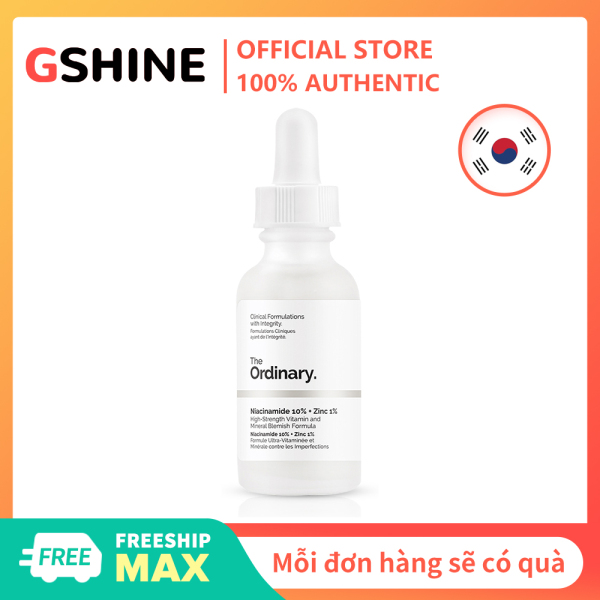 The Ordinary Niacinamide 10% + Zinc 1% High-Strength Blemish Essence-30ml cao cấp