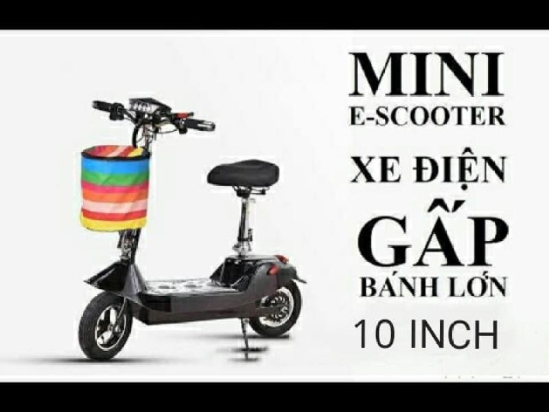 Mua Xe Điện Mini Scooter Bánh 10inch 24v12ah Tặng Ghế Em Bé + Giỏ Xe