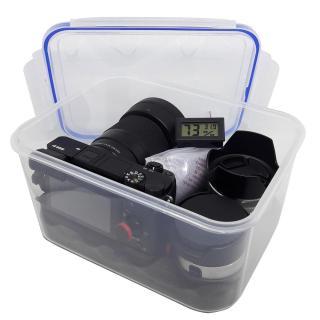 Combo hộp chống ẩm máy ảnh và ẩm kế điện tử, 100gram hạt hút ẩm xanh - dung tích 3,6 lít (tặng mút xốp lót hộp) - 2TCAMERA-Q01112 thumbnail