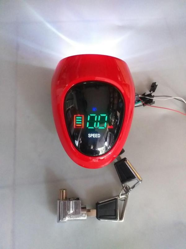 Mua đầu đèn xe đạp điện 48v giá tốt- dau den - đầu đèn báo tốc hiển thị led- đầu đèn xe điện kiểu mới