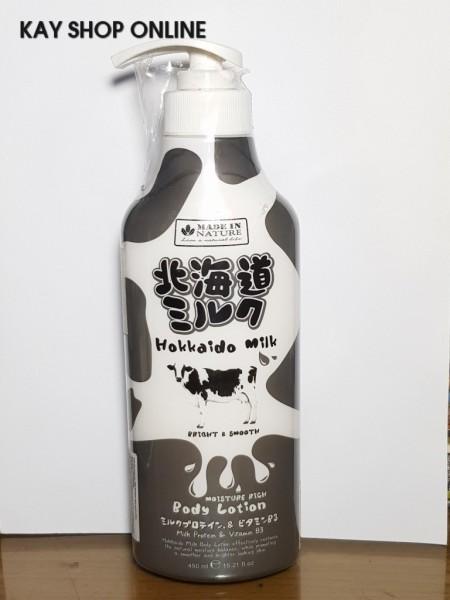 Kem dưỡng thể Hokkaido MILK PLUS 450ml dưỡng ẩm và mịn da Made in Nature - Body Lotion KDTMP450ML [HÌNH THẬT SHOP CHỤP]