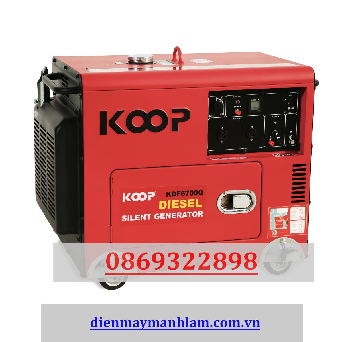 Máy phát điện nhật bản Koop 5.0kw KDF 6700Q