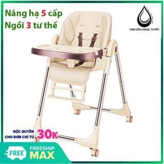 [Nguyên Khối] Ghế Ăn Dặm Cho Bé cao cấp bằng da, nâng hạ 5 cấp độ cao, nằm ngả lưng, da PU siêu êm và sạch, cho trẻ từ 6 tháng - 6 tuổi Bestbaby thumbnail
