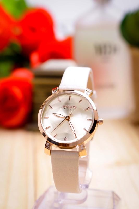 Đồng hồ nữ Julius Hàn Quốc JA-1158 dây da kính 3D tuyệt đẹp