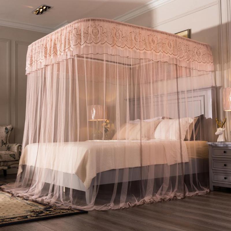 Mùng ngủ (màn khung ) chống muỗi  cao cấp không phải khoan tường ( kích thước 1.8*2m ) khung inox không gỉ / chất vải tuyn lưới mắt nhỏ chống côn trùng  Mosquito Net / Easy Dream
