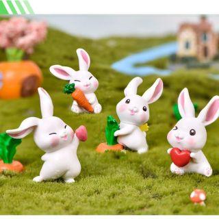 Bầy thỏ tinh nghịch trang trí tiểu cảnh... thumbnail