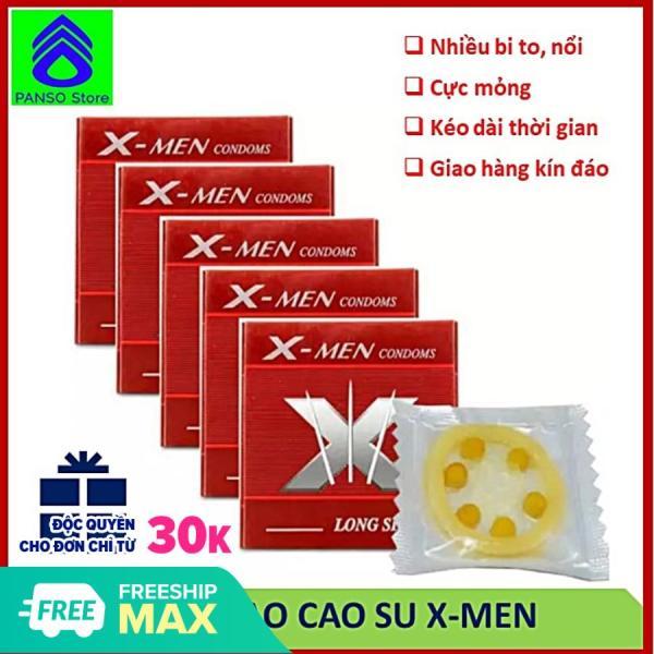 5 hộp Bao cao su bi to gai nổi, đôn dên, kéo dài thời gian quan hệ, hỗ trợ tình dục nam nữ người lớn [PANSO Store] cao cấp