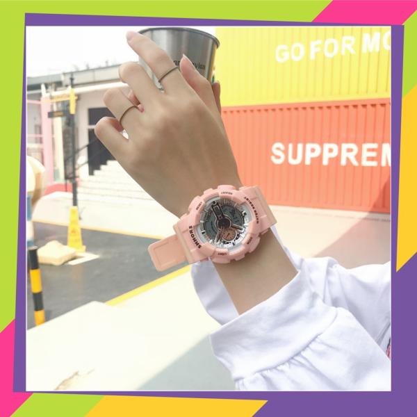 Nơi bán Đồng hồ điện tử màu hồng sport watch dành cho nữ màu hồng kim điện tử