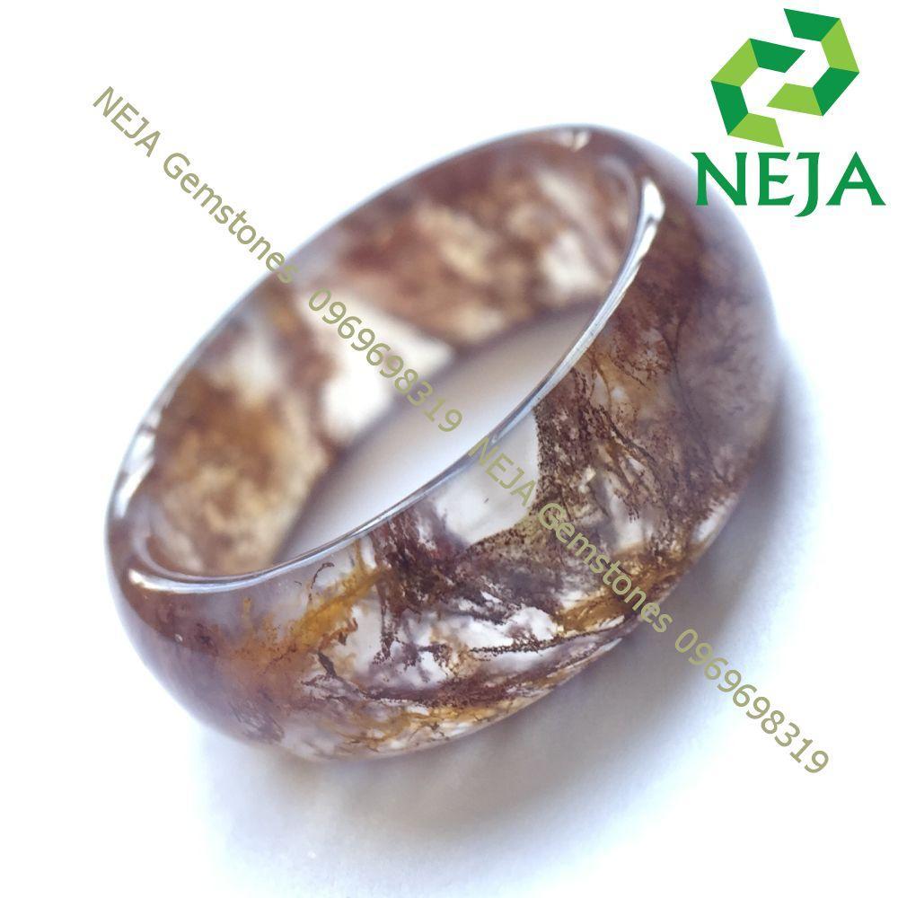 Nhẫn Huyết Ngọc Thủy Tảo NEJA Gemstones