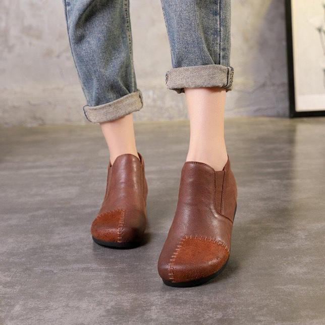 G021-Giày Retro Hanmade Khâu Da giá rẻ