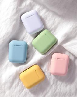 Tai nghe nhét tai không dây mini Macaron inPods 12 kết nối Bluetooth âm thanh nổi sống động có thể cảm ứng kèm hộp sạc dành cho điện thoại iPhone Android Huawei Xiaomi Samsung OPPO Vivo thumbnail