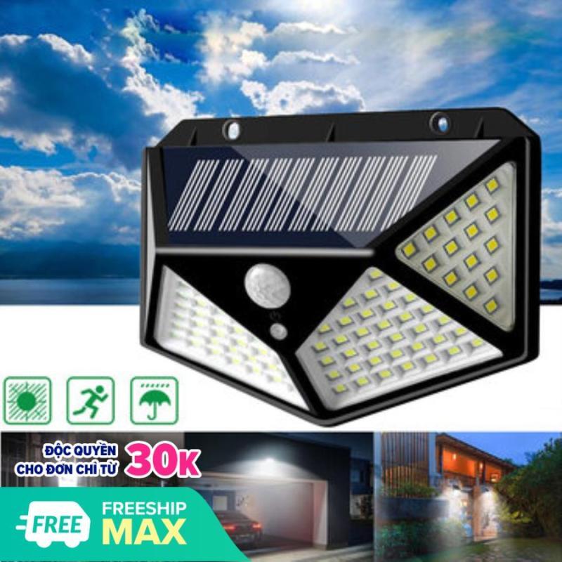 Đèn Năng Lượng Mặt Trời 100 LED, Đèn Tường Cảm Biến Hồng Ngoại Chuyển Động 3 Chế Độ Bật Tắt Tự Độ - Chống Nước Chuẩn IP65, Đèn Trang Trí Sân Vườn Không Dùng Điện